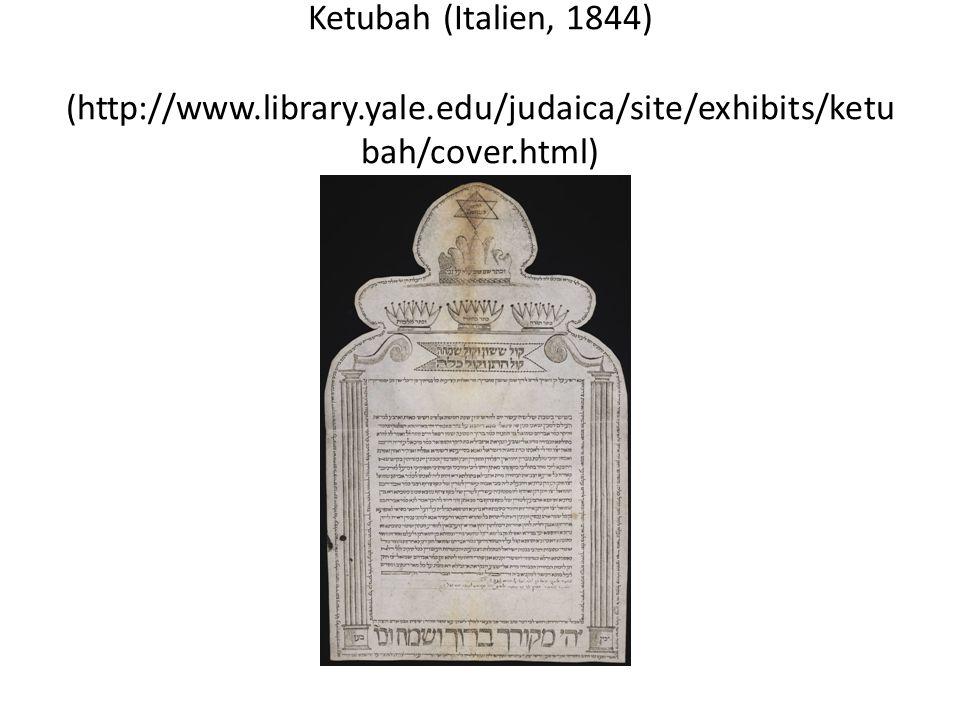 Ketubah (Italien, 1844) (http://www. library. yale