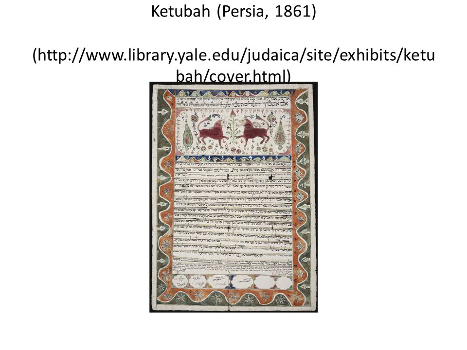 Ketubah (Persia, 1861) (http://www. library. yale