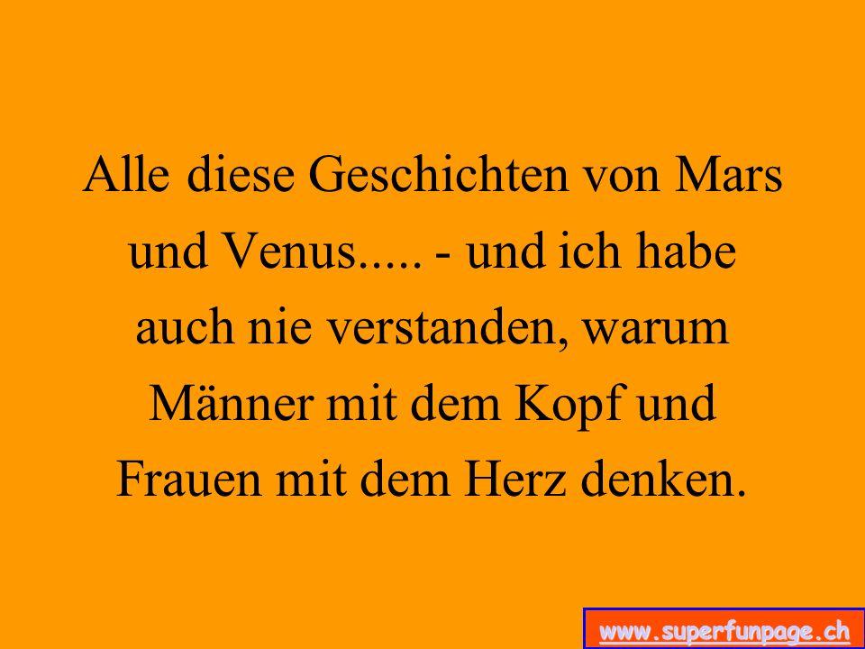 Alle diese Geschichten von Mars und Venus
