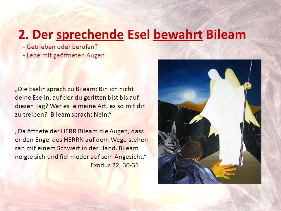 2. Der sprechende Esel bewahrt Bileam