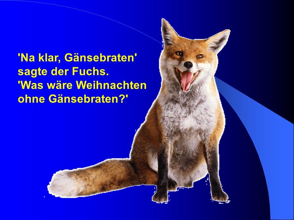 Na klar, Gänsebraten sagte der Fuchs