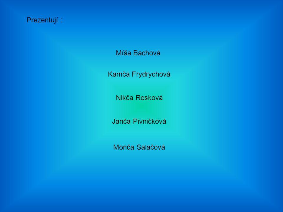 Prezentují : Míša Bachová Kamča Frydrychová Nikča Resková Janča Pivničková Monča Salačová