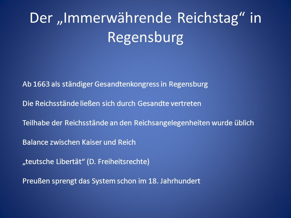 """Der """"Immerwährende Reichstag in Regensburg"""