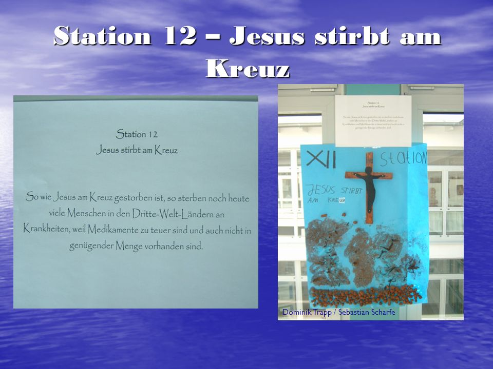 Station 12 – Jesus stirbt am Kreuz