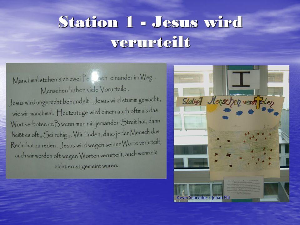 Station 1 - Jesus wird verurteilt
