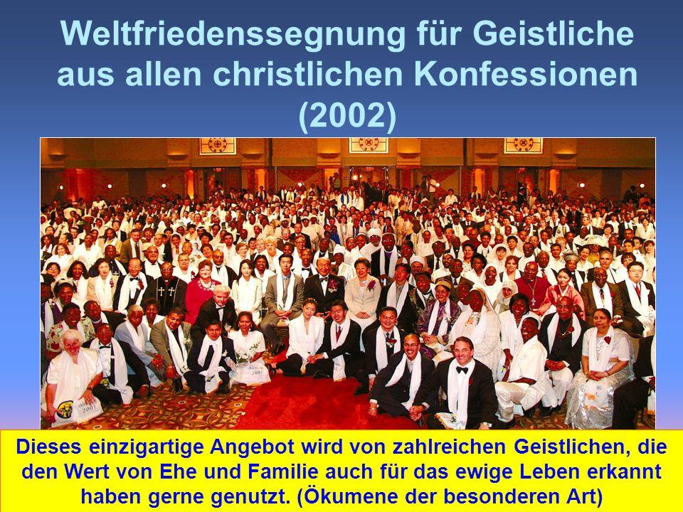 Weltfriedenssegnung für Geistliche aus allen christlichen Konfessionen (2002)
