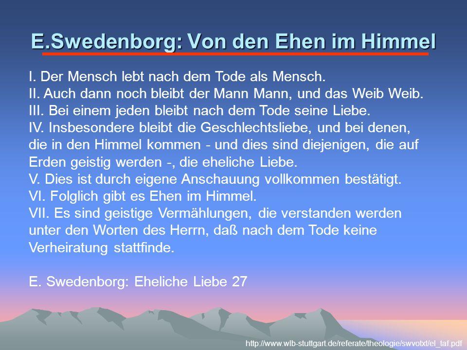 E.Swedenborg: Von den Ehen im Himmel