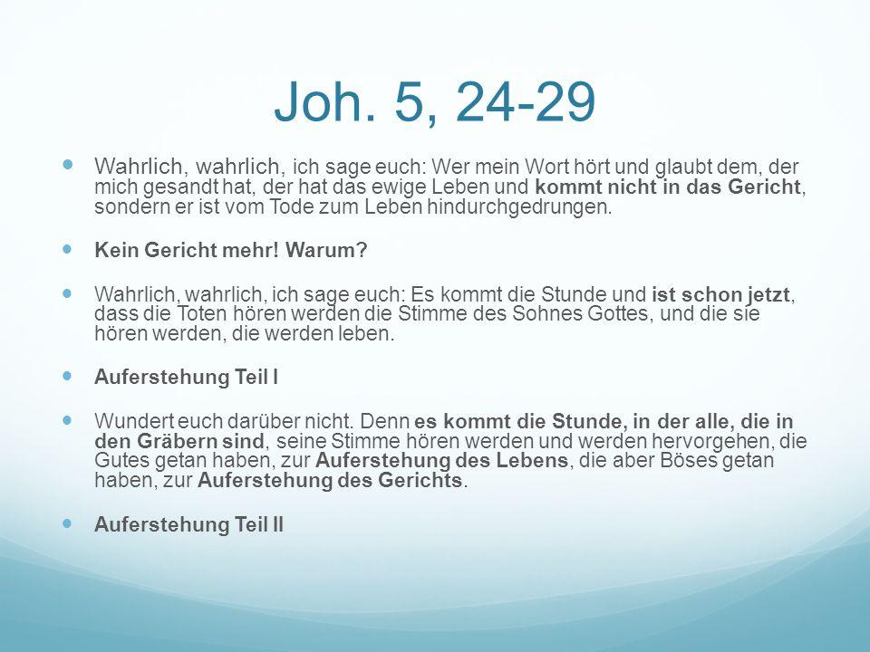 Joh. 5, 24-29