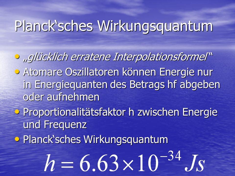 Planck'sches Wirkungsquantum