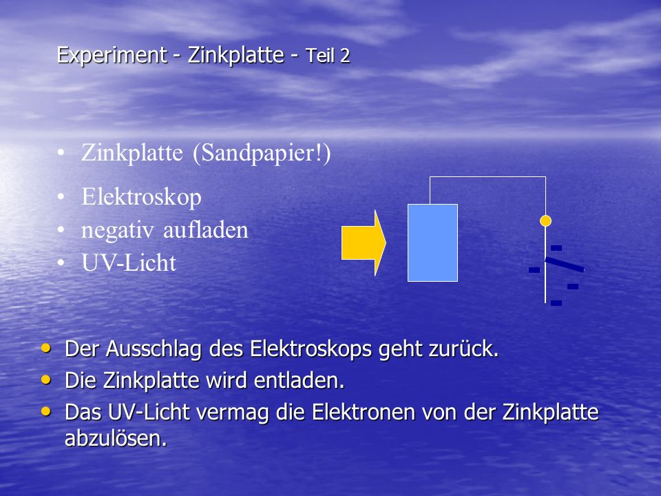 Experiment - Zinkplatte - Teil 2
