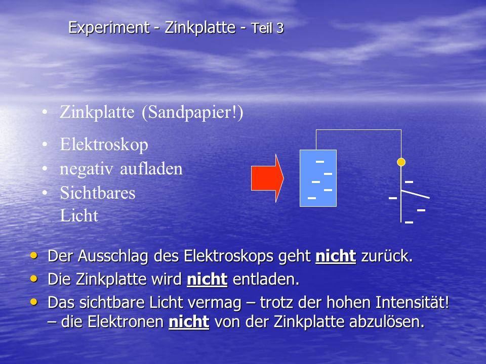 Experiment - Zinkplatte - Teil 3