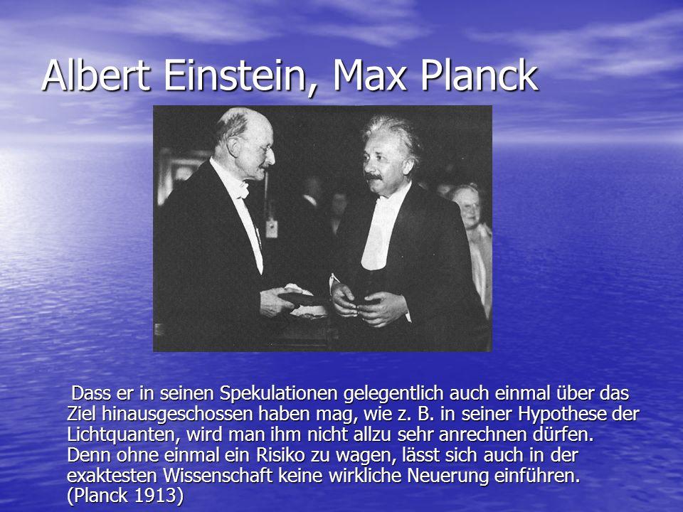 Albert Einstein, Max Planck
