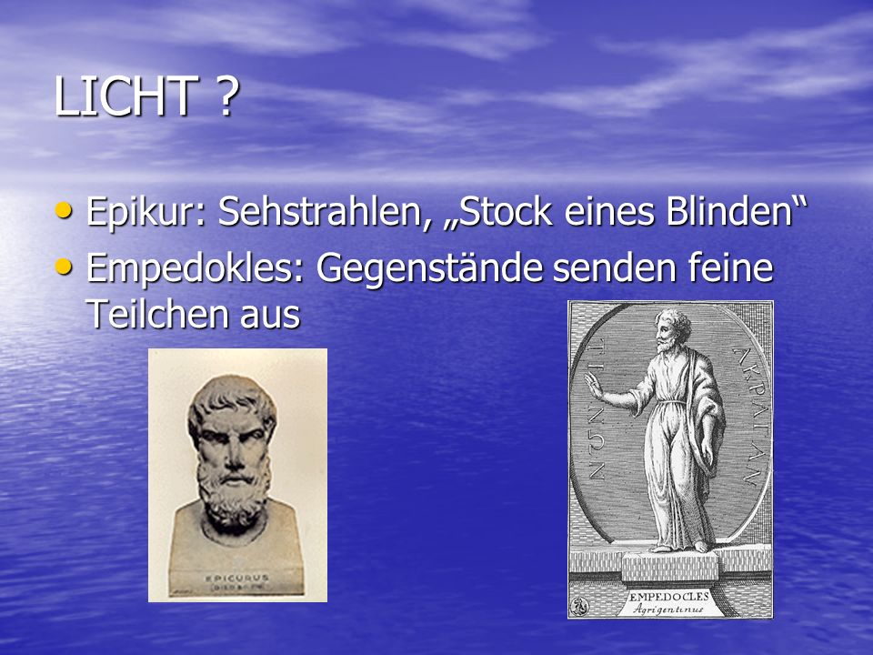 """LICHT Epikur: Sehstrahlen, """"Stock eines Blinden"""