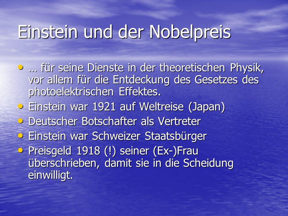 Einstein und der Nobelpreis