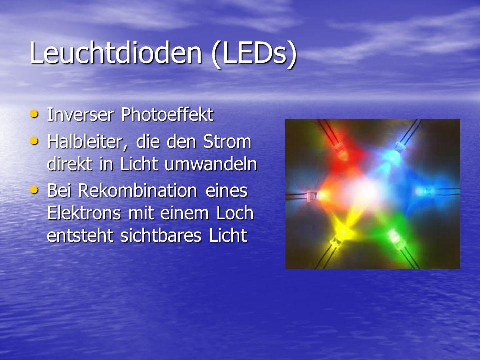 Leuchtdioden (LEDs) Inverser Photoeffekt