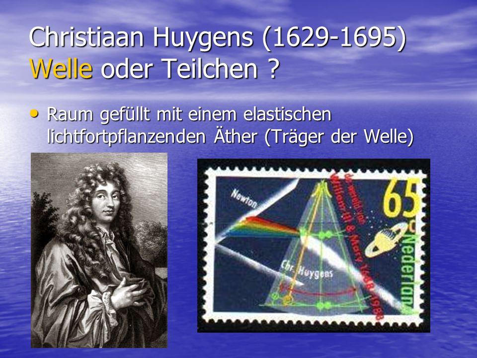 Christiaan Huygens (1629-1695) Welle oder Teilchen