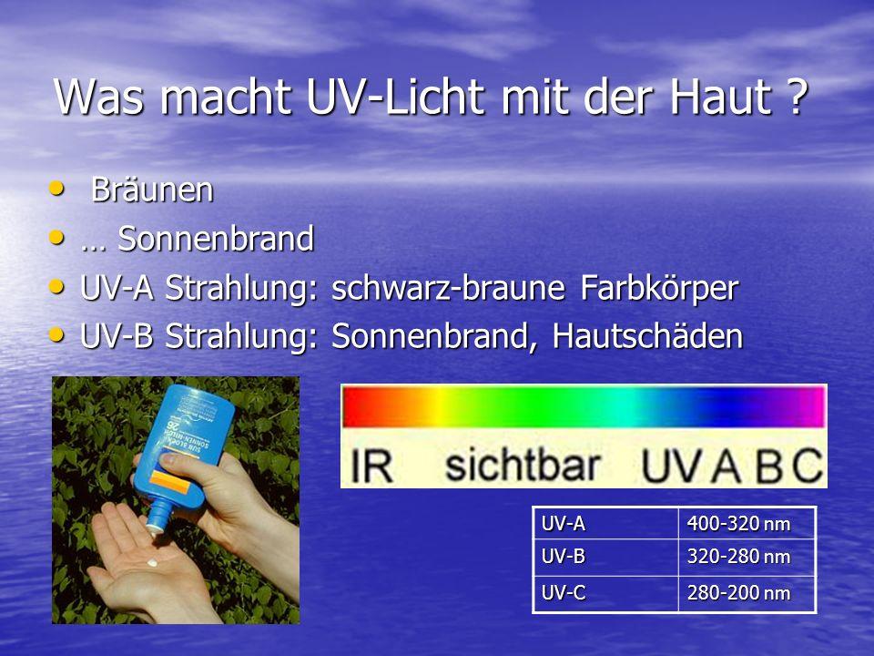 Was macht UV-Licht mit der Haut