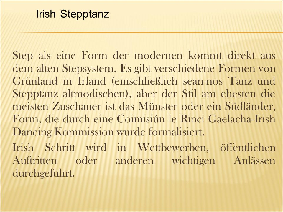 Irish Stepptanz
