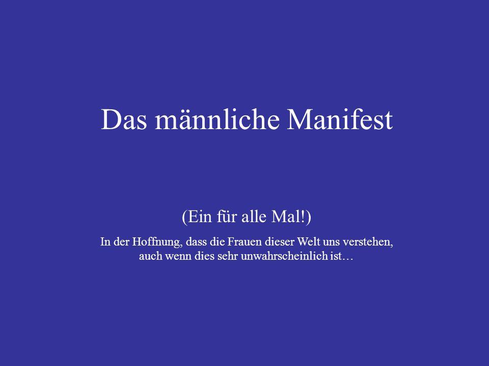 Das männliche Manifest