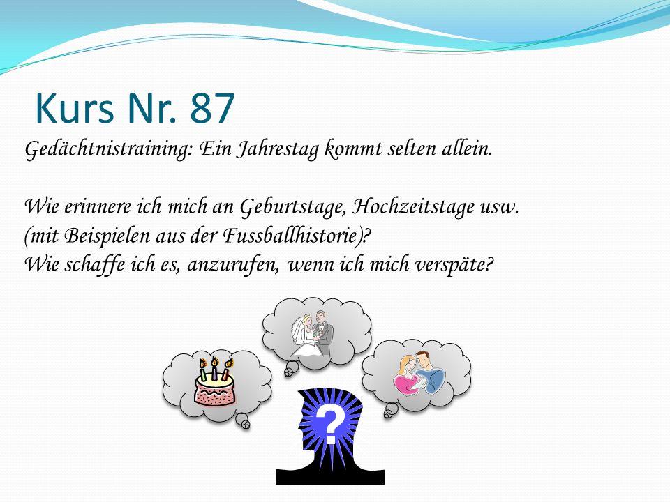 Kurs Nr. 87