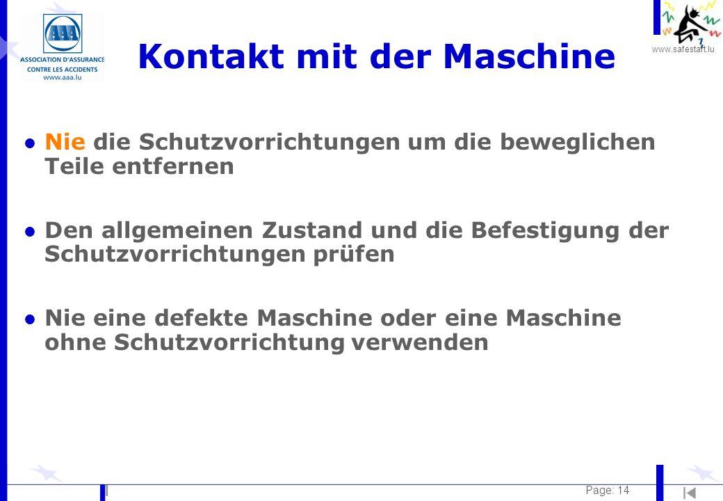 Kontakt mit der Maschine