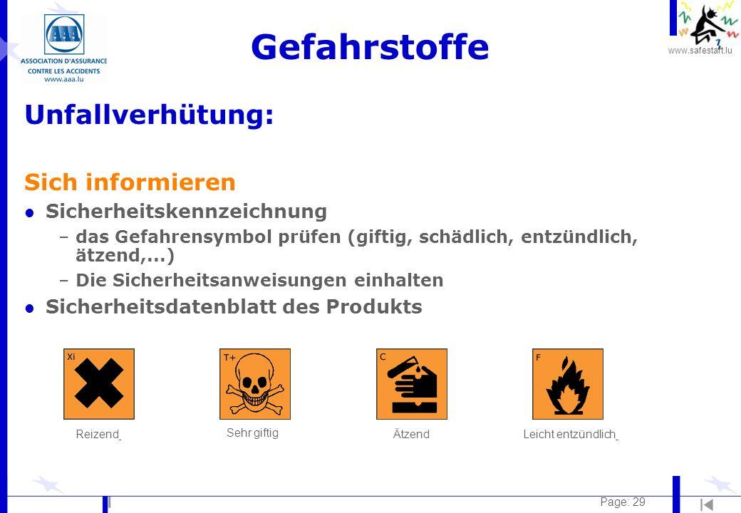 Gefahrstoffe Unfallverhütung: Sich informieren