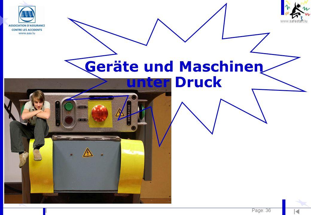 Geräte und Maschinen unter Druck