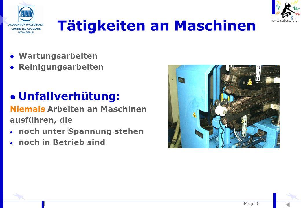 Tätigkeiten an Maschinen