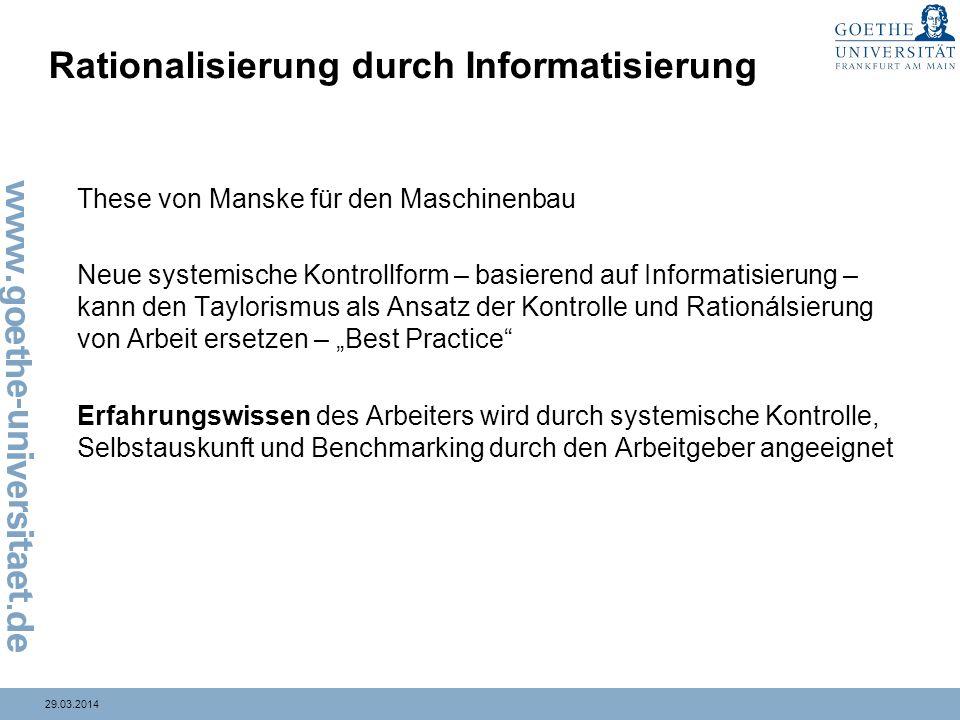 Rationalisierung durch Informatisierung