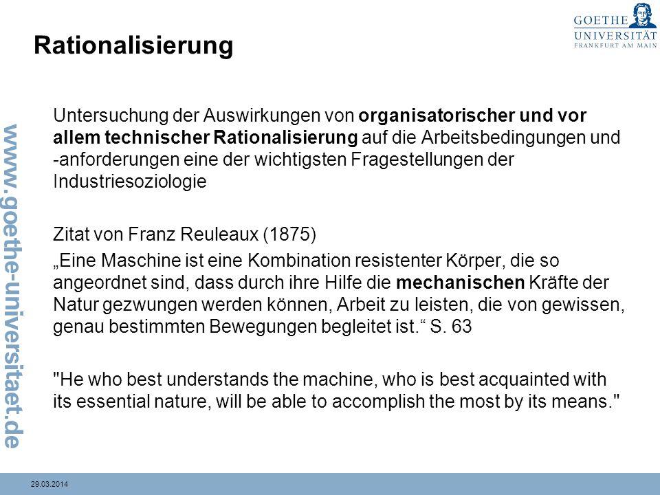Rationalisierung Zitat von Franz Reuleaux (1875)