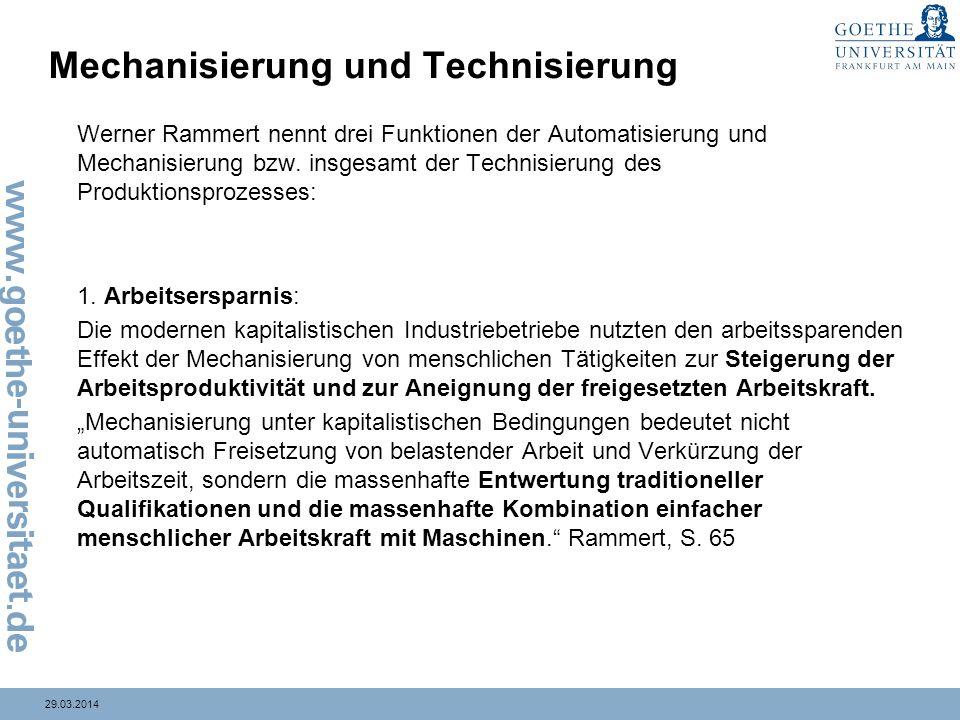 Mechanisierung und Technisierung