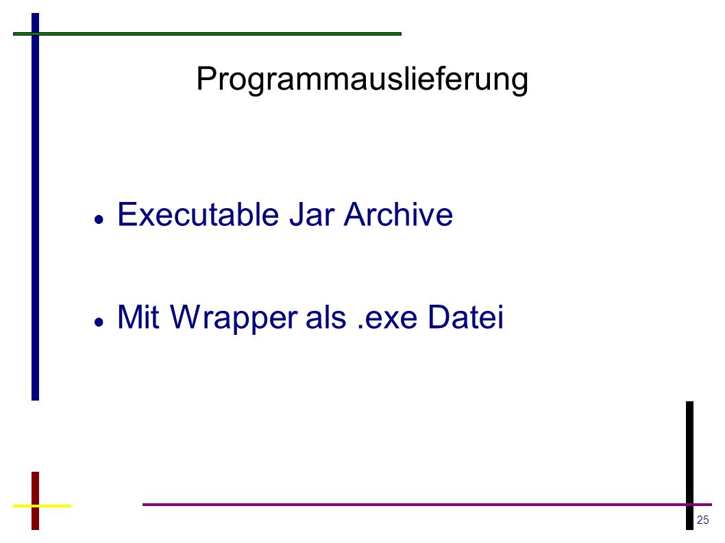Programmauslieferung