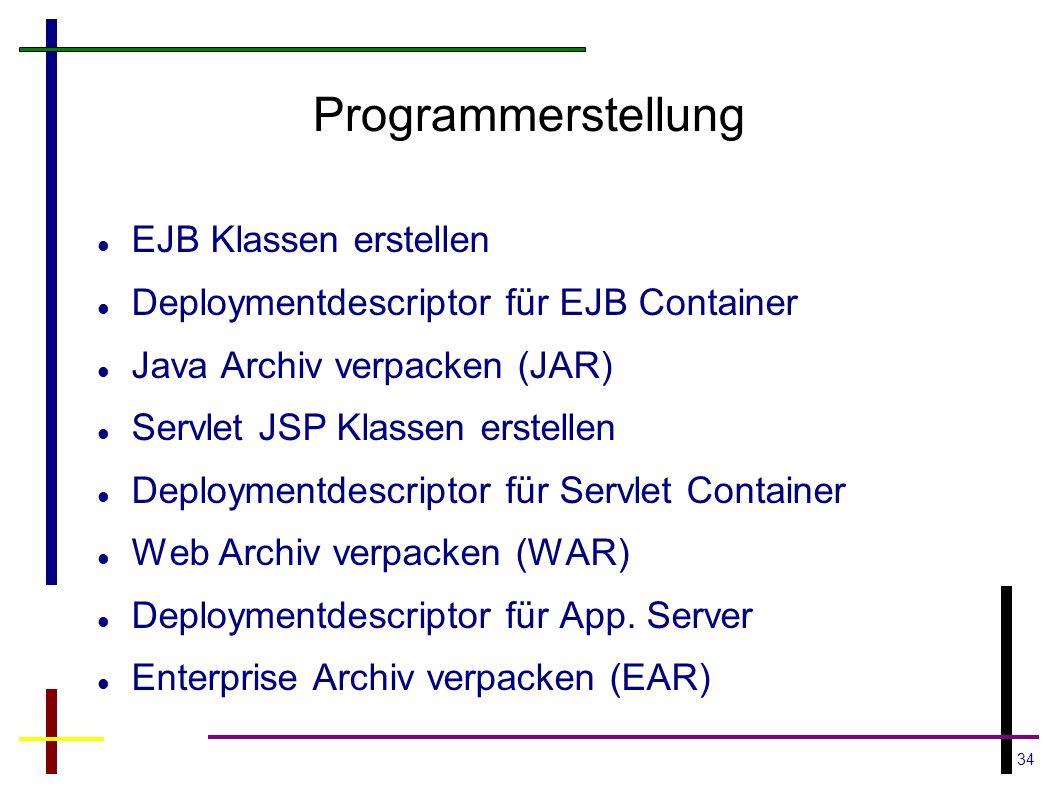 Programmerstellung EJB Klassen erstellen