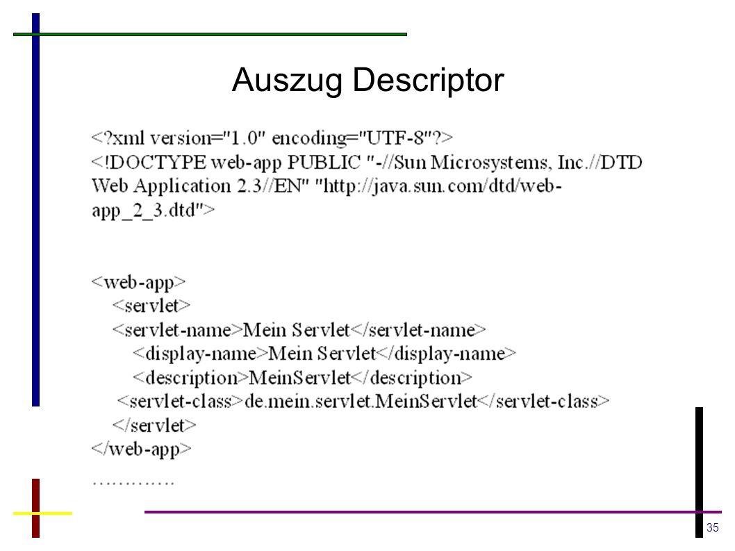 Auszug Descriptor