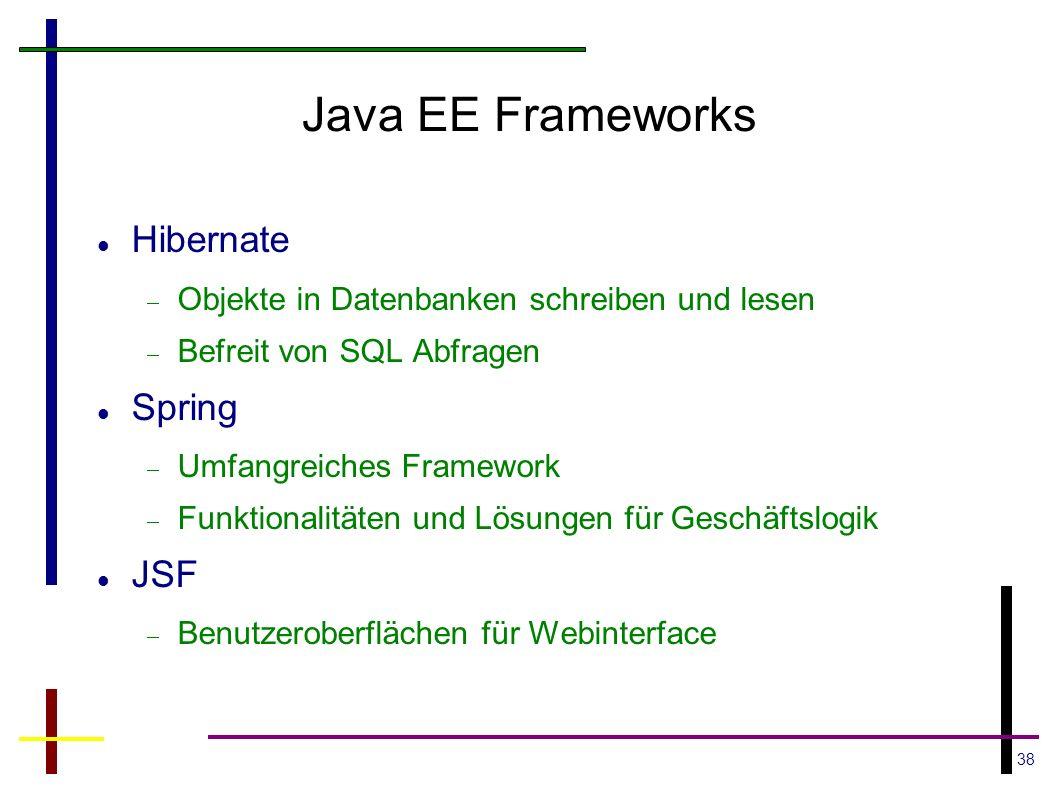Java EE Frameworks Hibernate Spring JSF