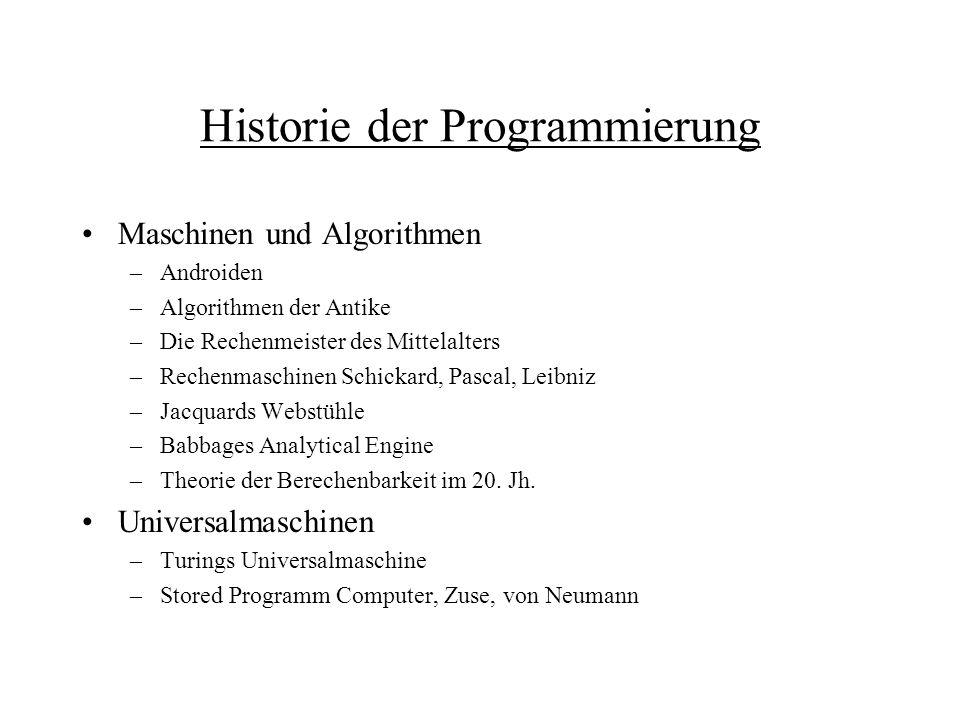 Historie der Programmierung