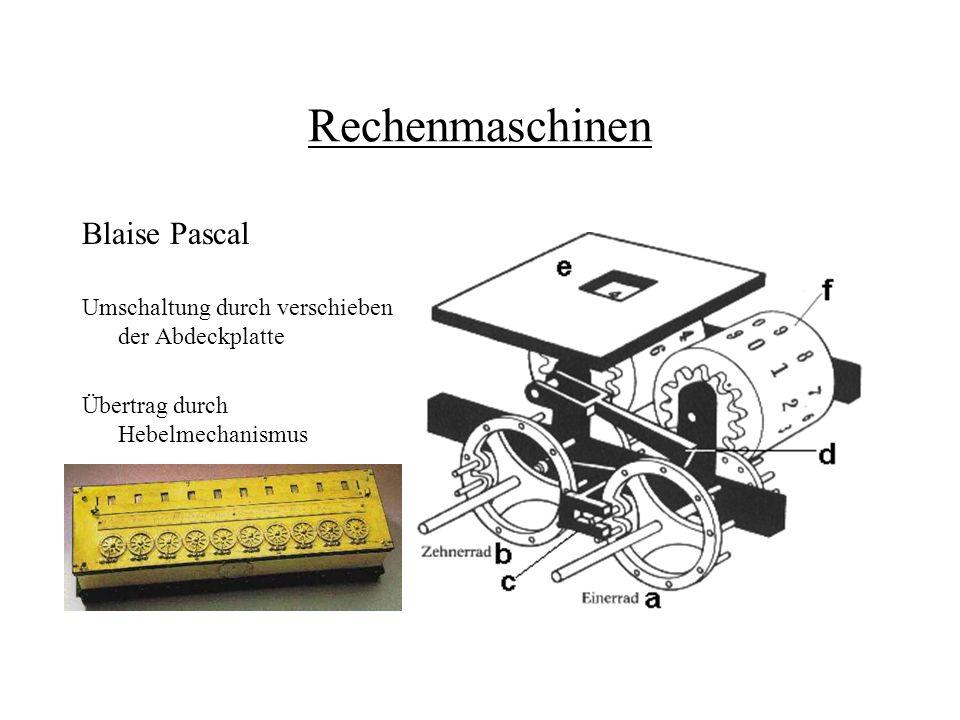 Rechenmaschinen Blaise Pascal