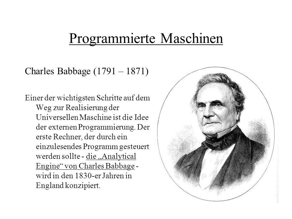 Programmierte Maschinen