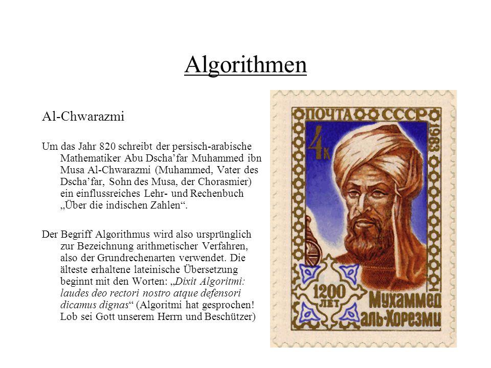 Algorithmen Al-Chwarazmi