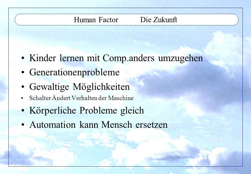 Human Factor Die Zukunft