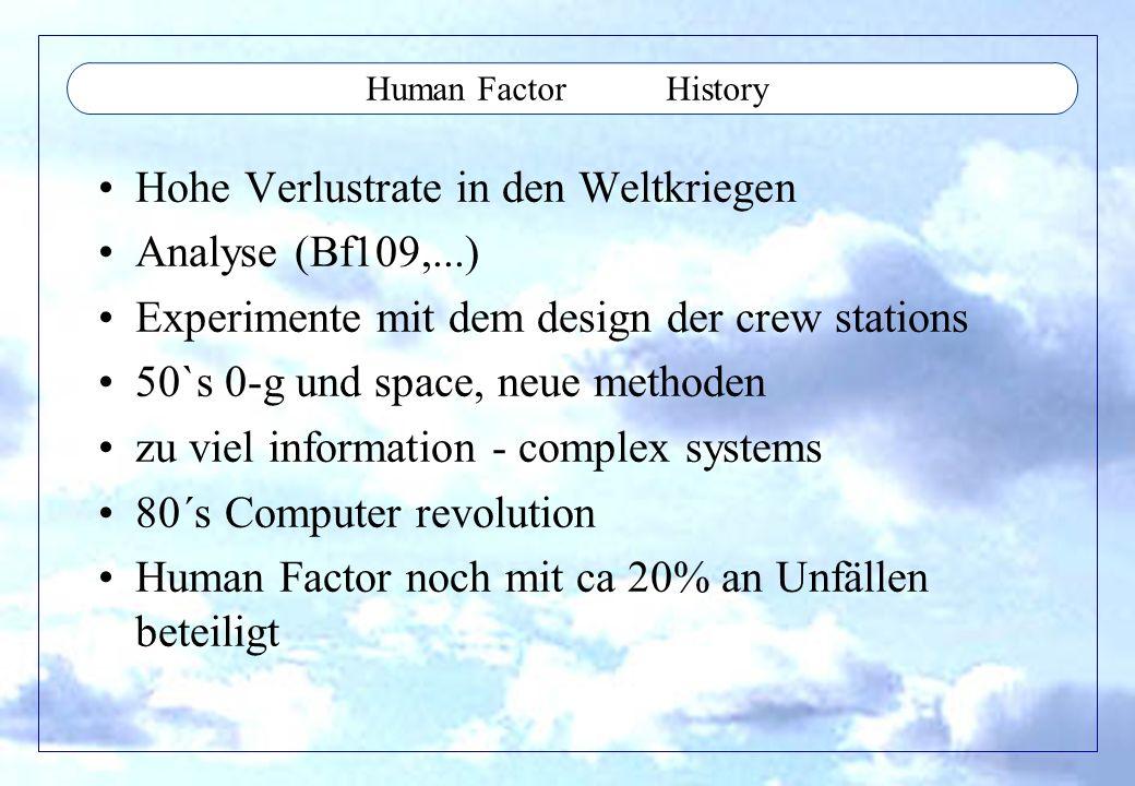 Hohe Verlustrate in den Weltkriegen Analyse (Bf109,...)