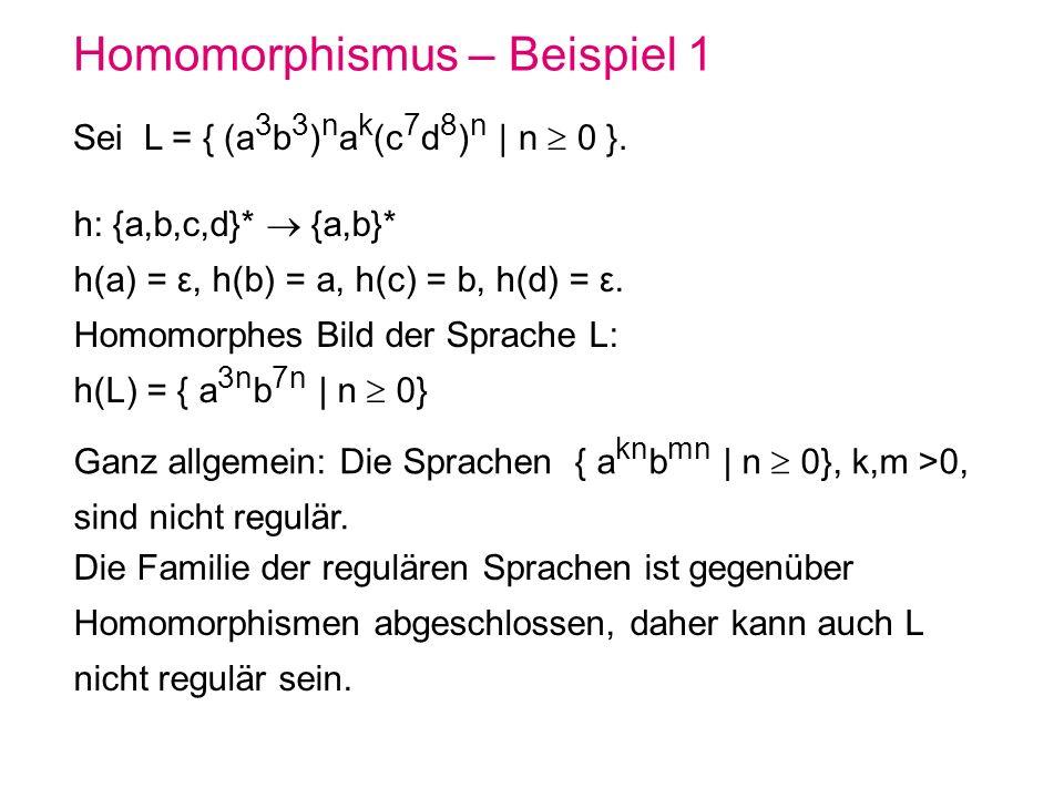Homomorphismus – Beispiel 1