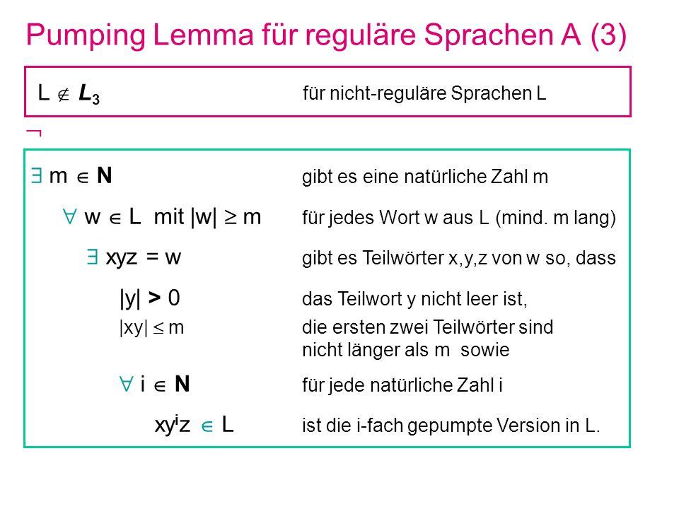 Pumping Lemma für reguläre Sprachen A (3)