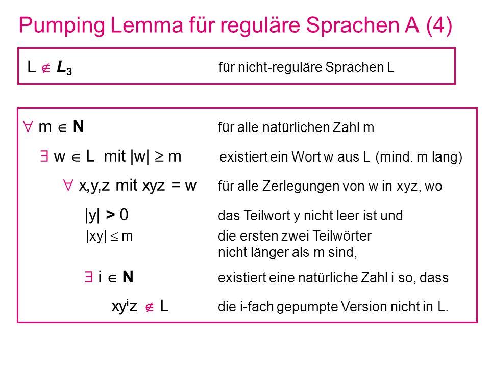 Pumping Lemma für reguläre Sprachen A (4)