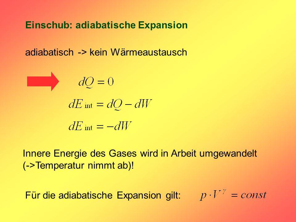 Einschub: adiabatische Expansion