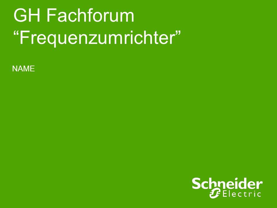 GH Fachforum Frequenzumrichter