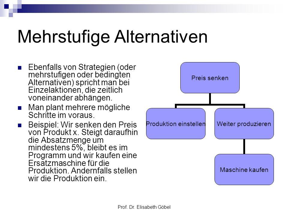 Mehrstufige Alternativen