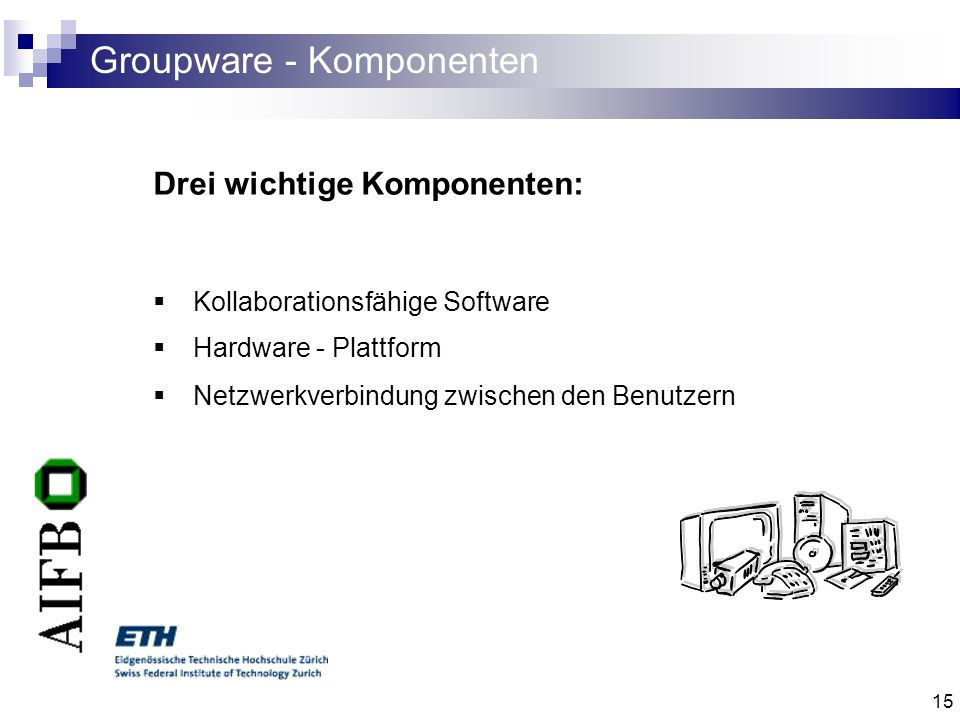Groupware - Komponenten