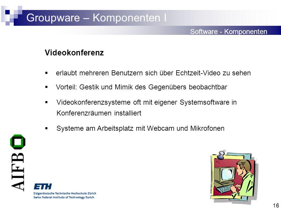 Groupware – Komponenten I