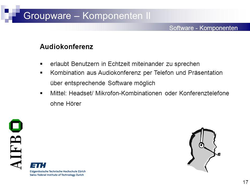 Groupware – Komponenten II